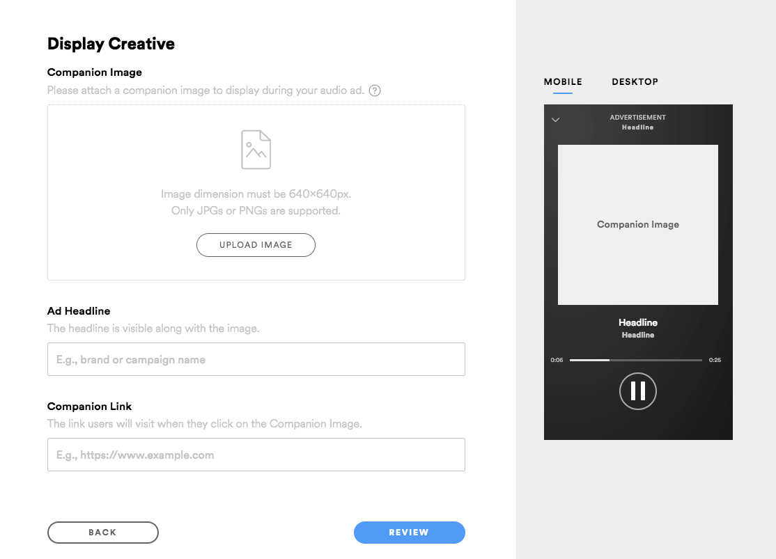 spotify creative dimensions and examples
